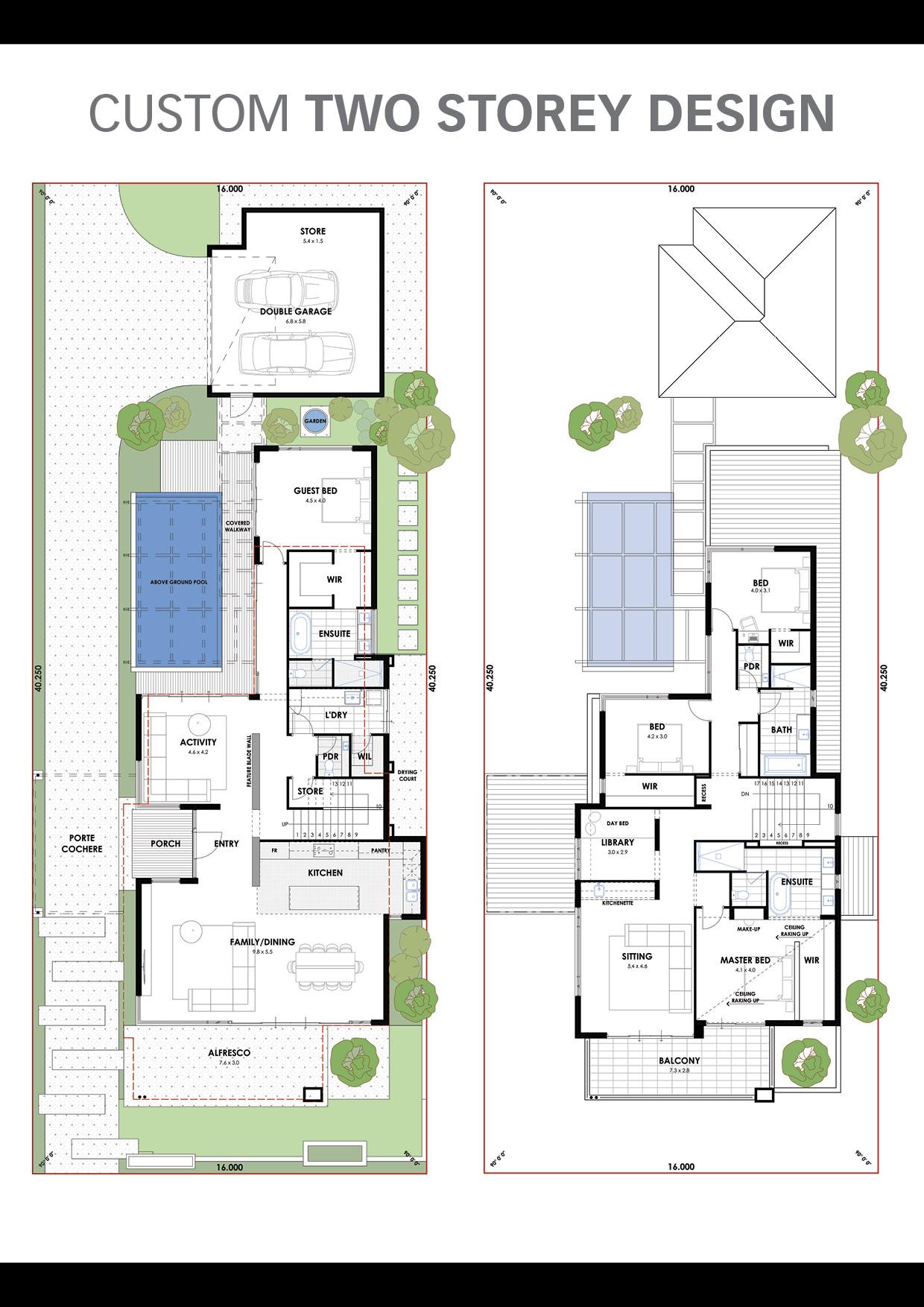 A stylish mid century family abode Floorplan