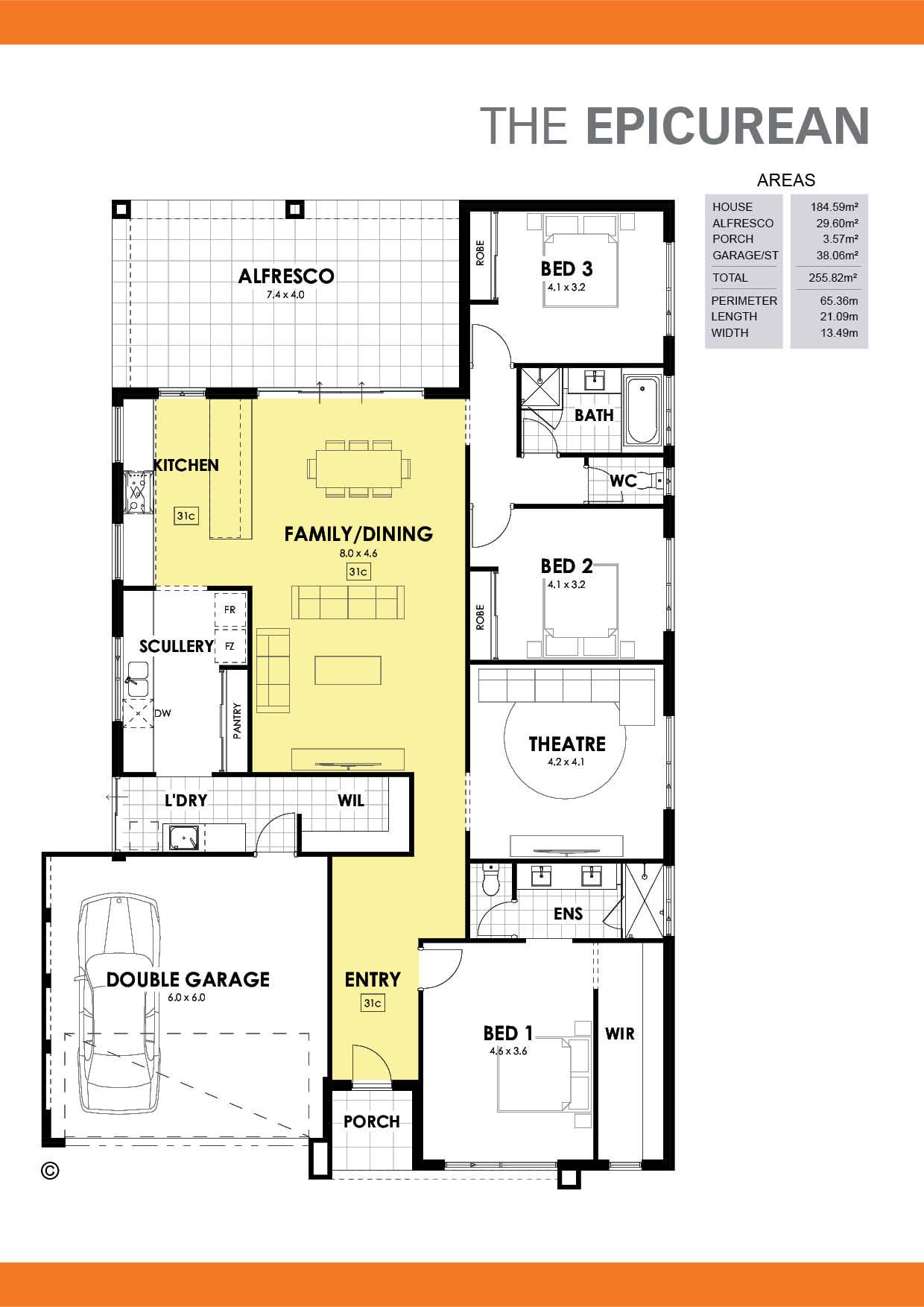 The Epicurean 3 Floorplan