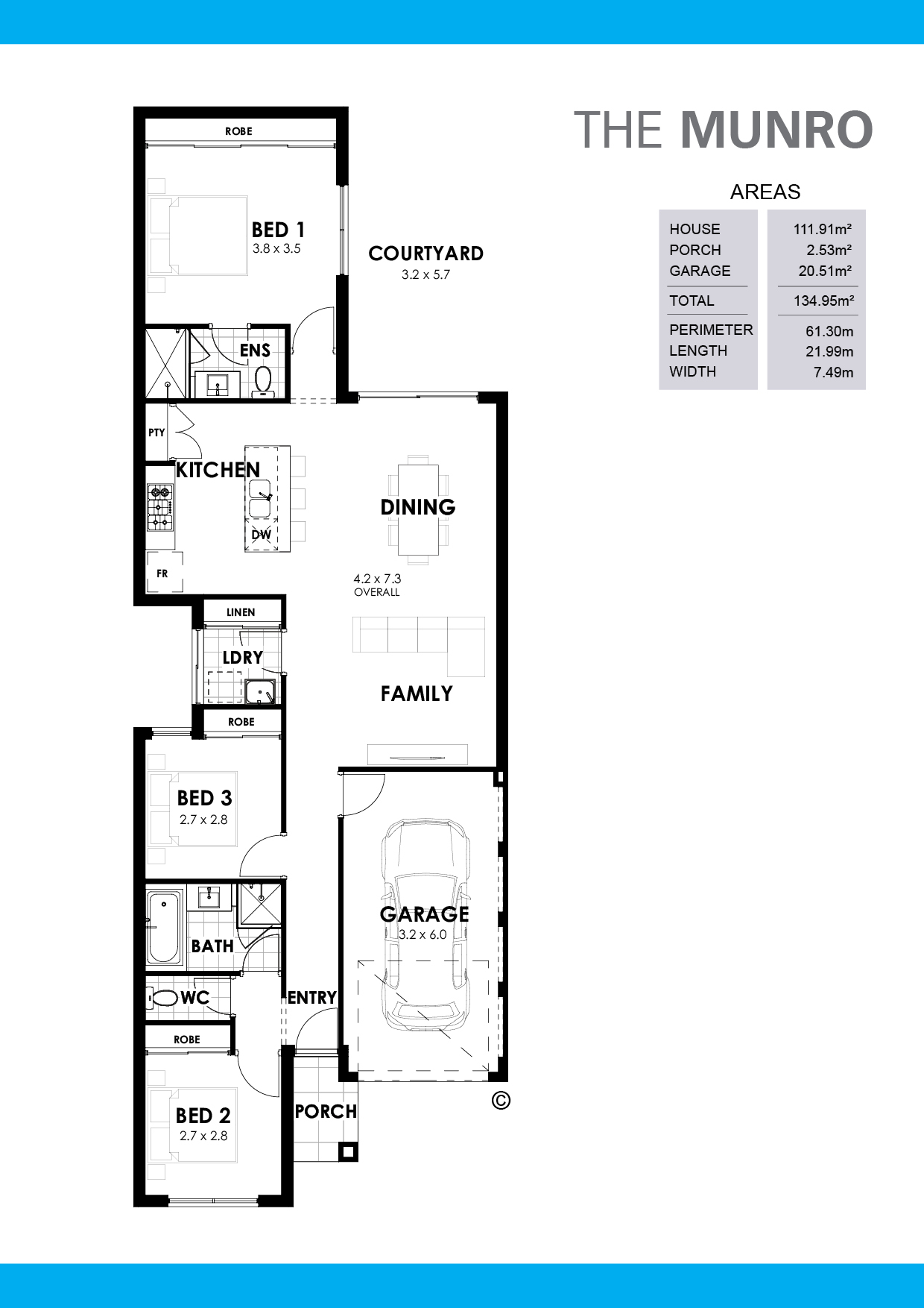 The Munro Floorplan