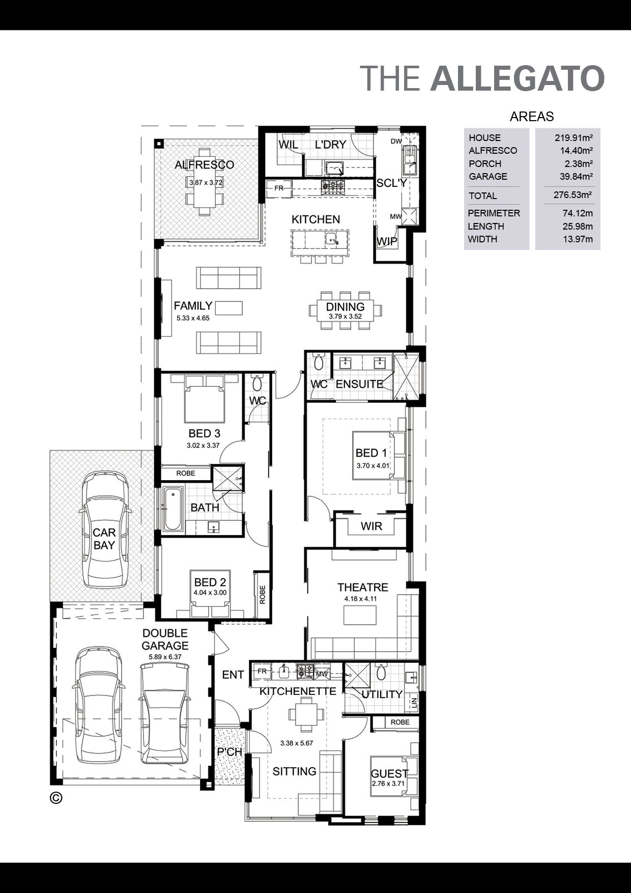 The Allegato Floorplan