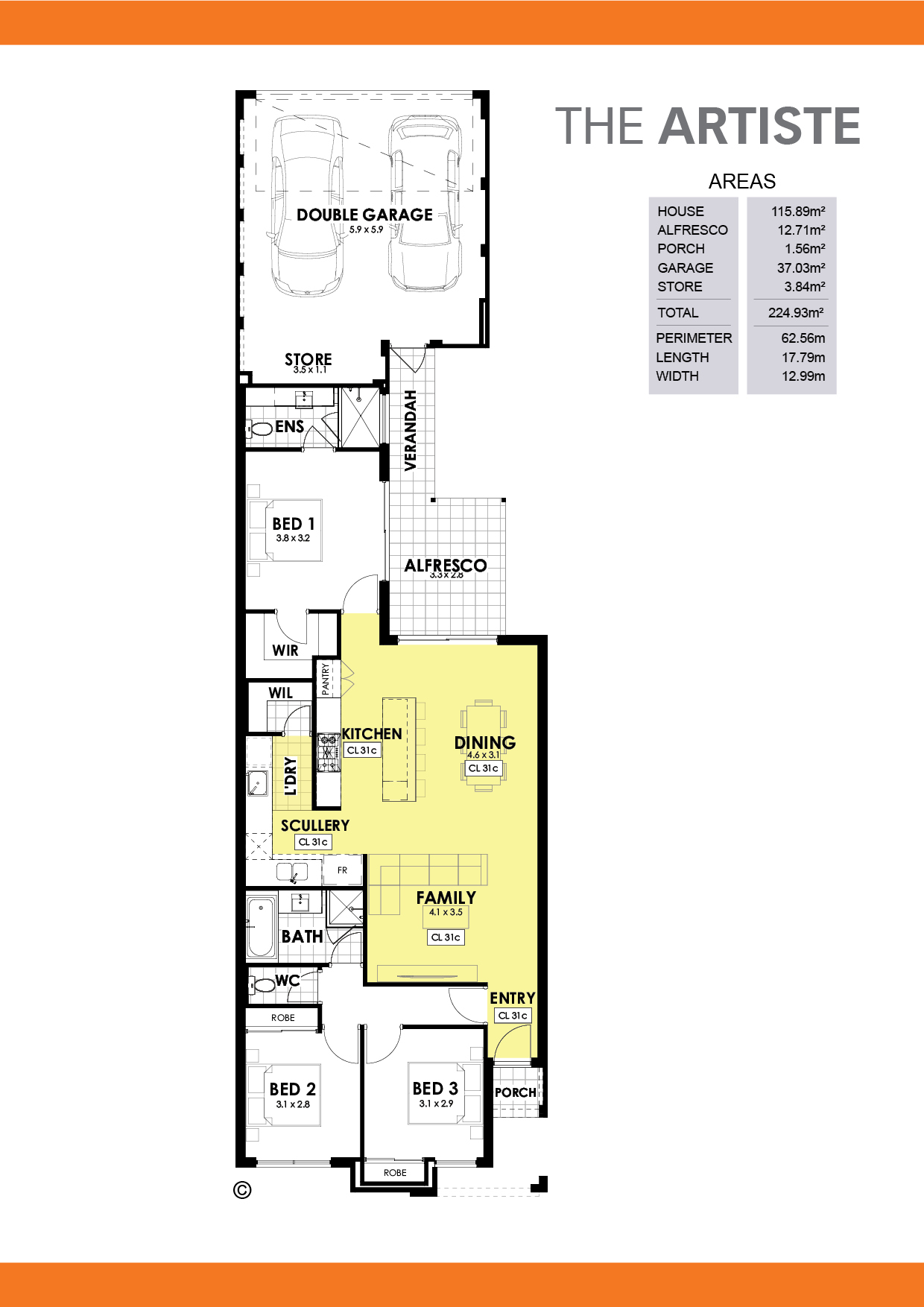 The Artiste Floorplan