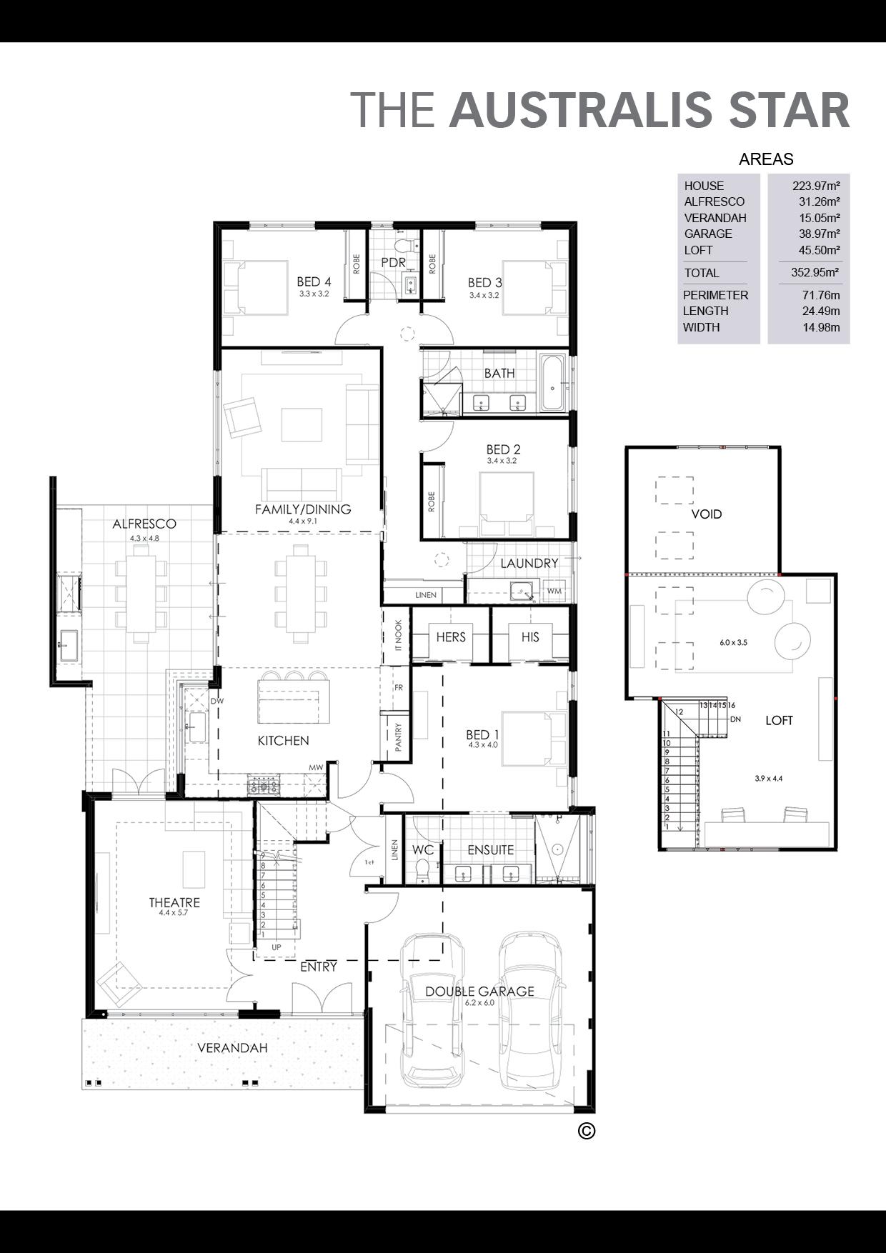 The Australis Star Floorplan