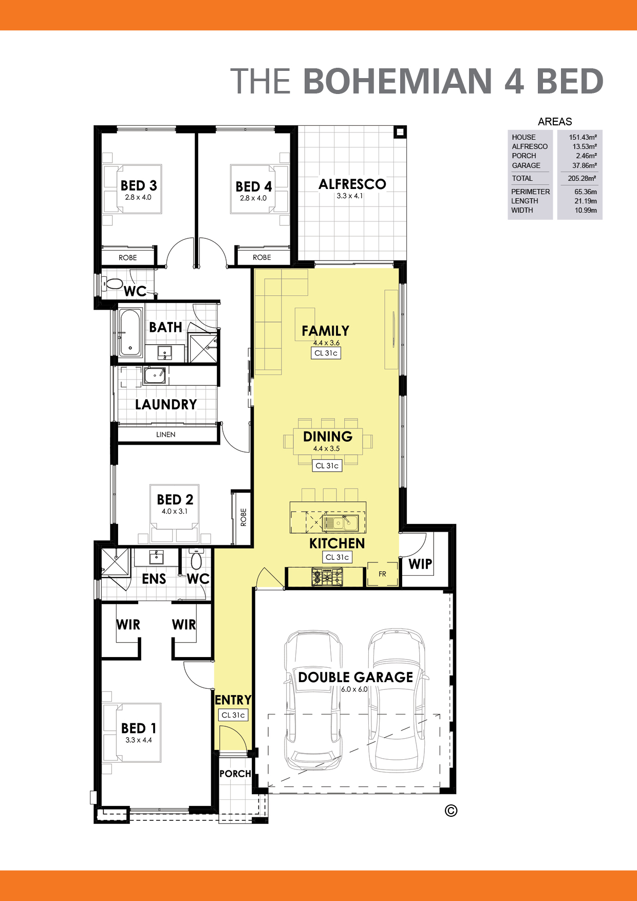 The Bohemian 4 Floorplan