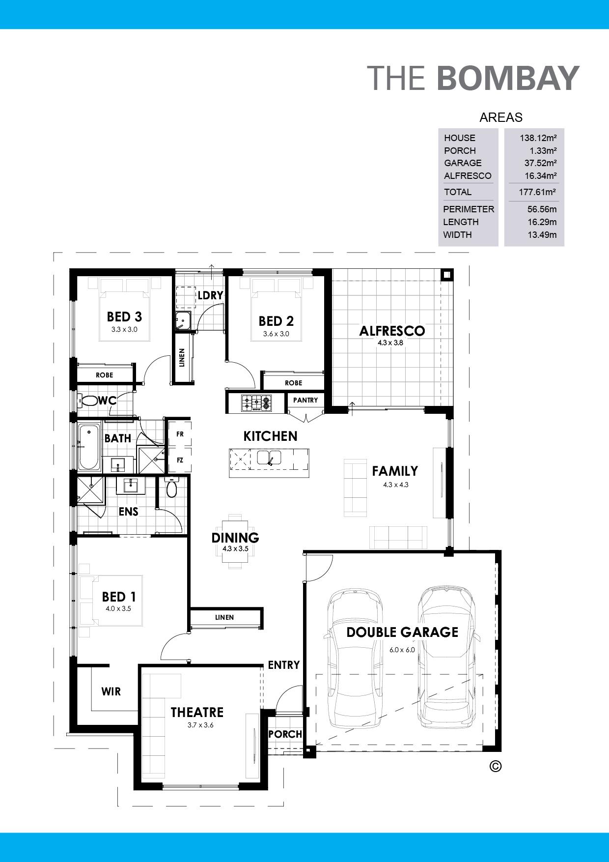 The Bombay Floorplan
