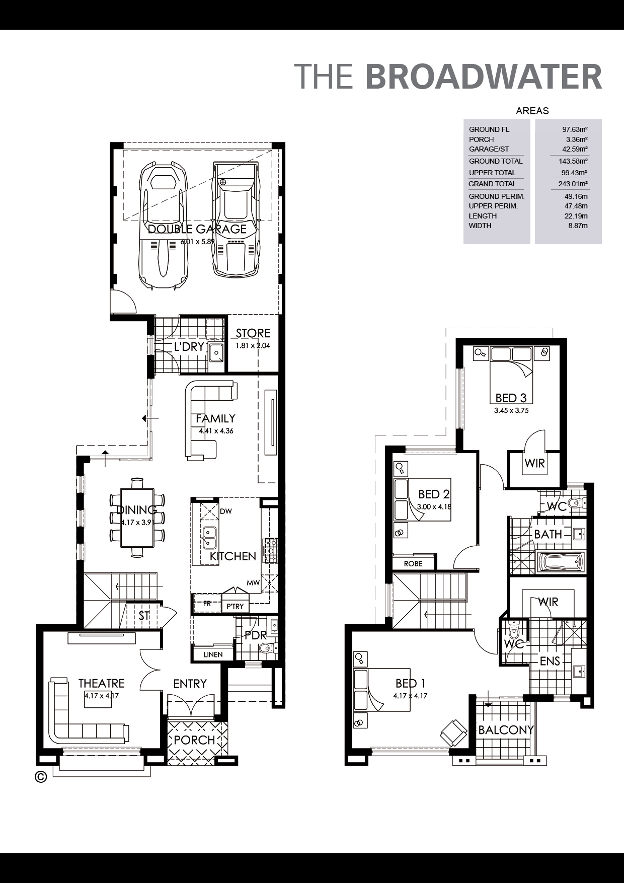 The Broadwater Floorplan