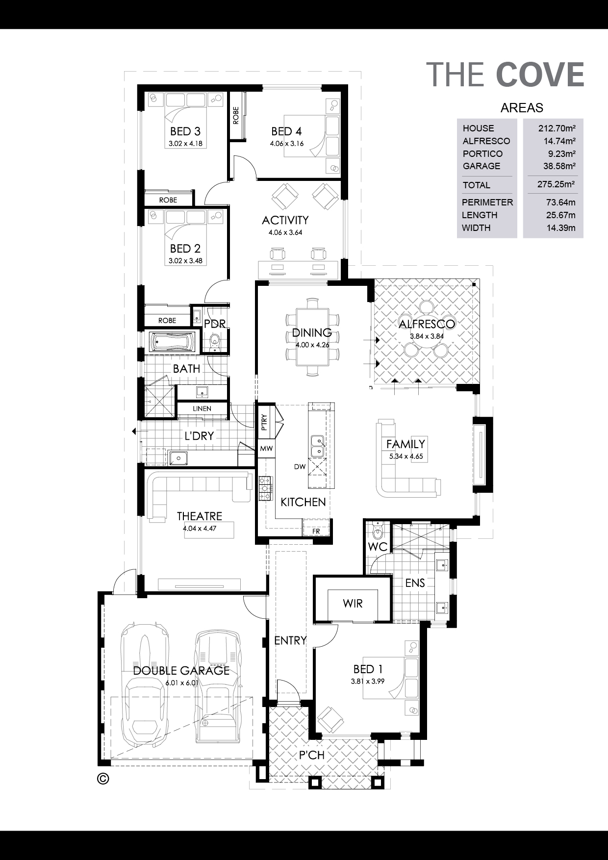 The Cove Floorplan