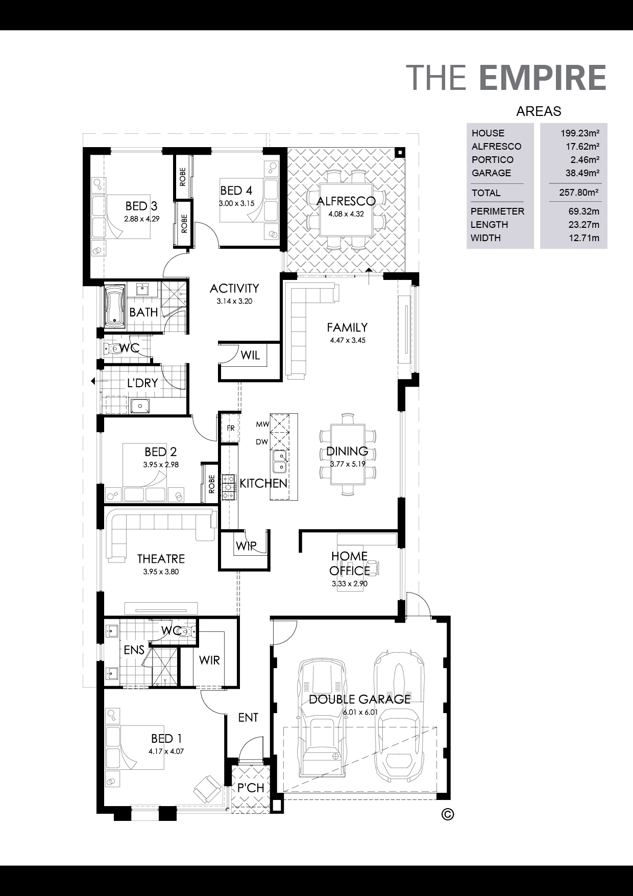 The Empire Floorplan