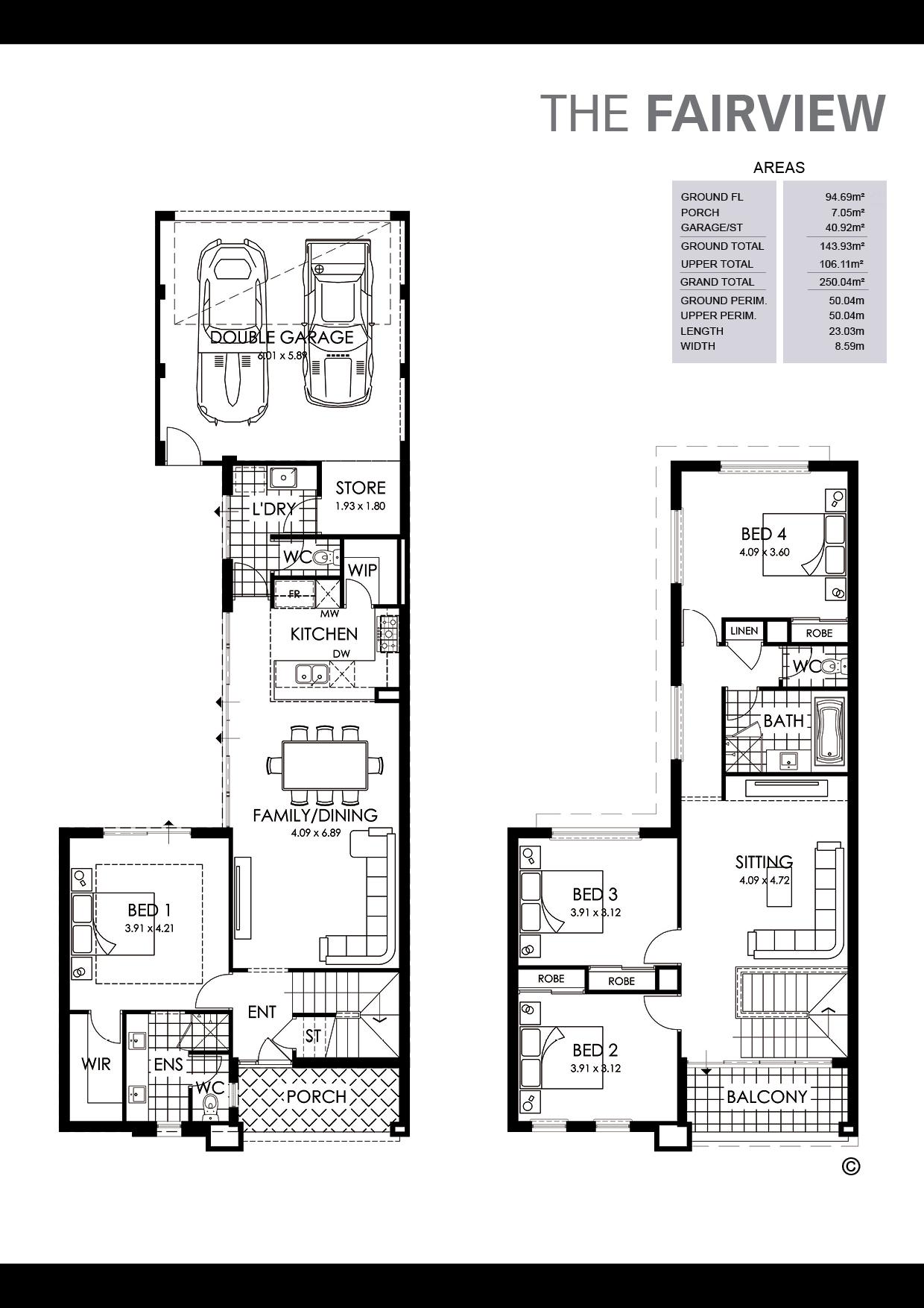 The Fairview Floorplan