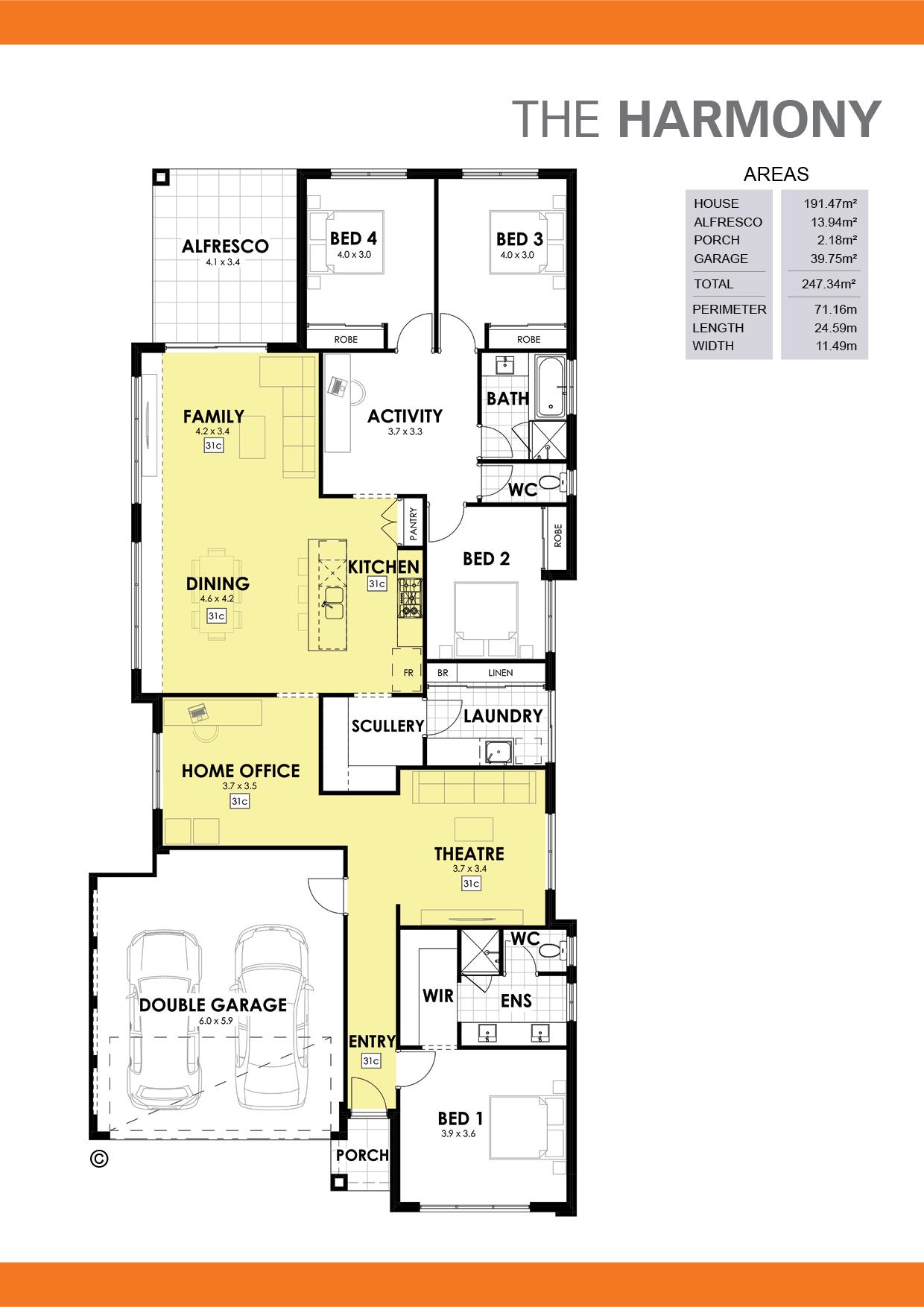 The Harmony Floorplan