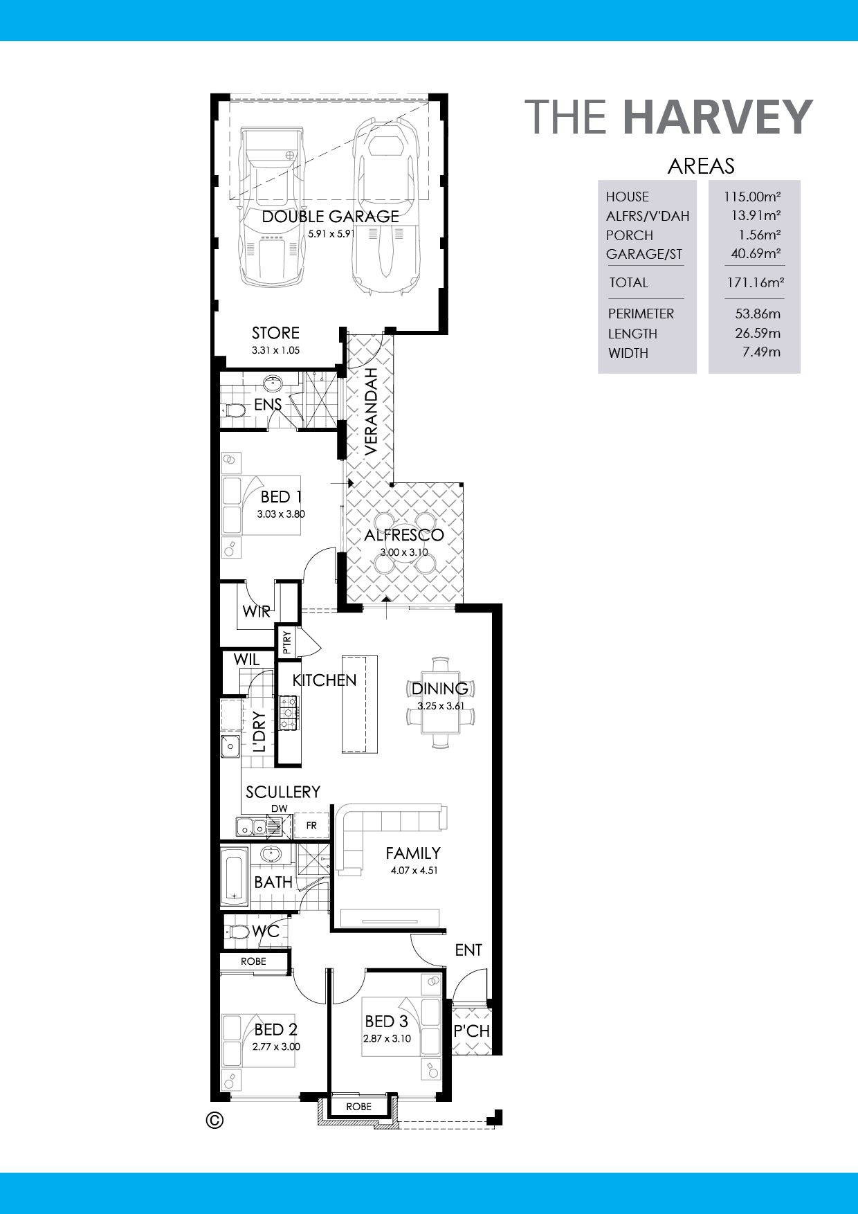 The Harvey Floorplan