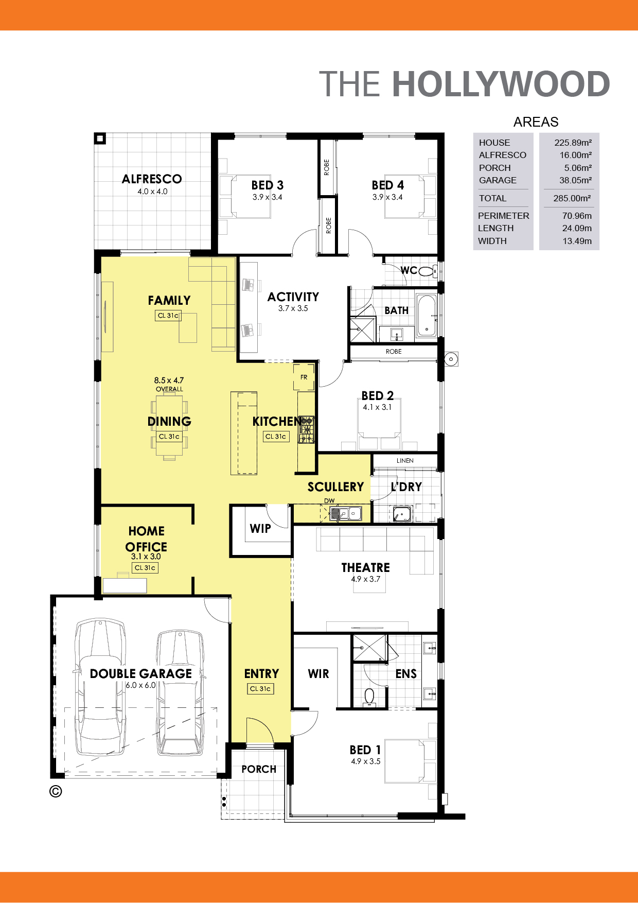 The Hollywood Floorplan