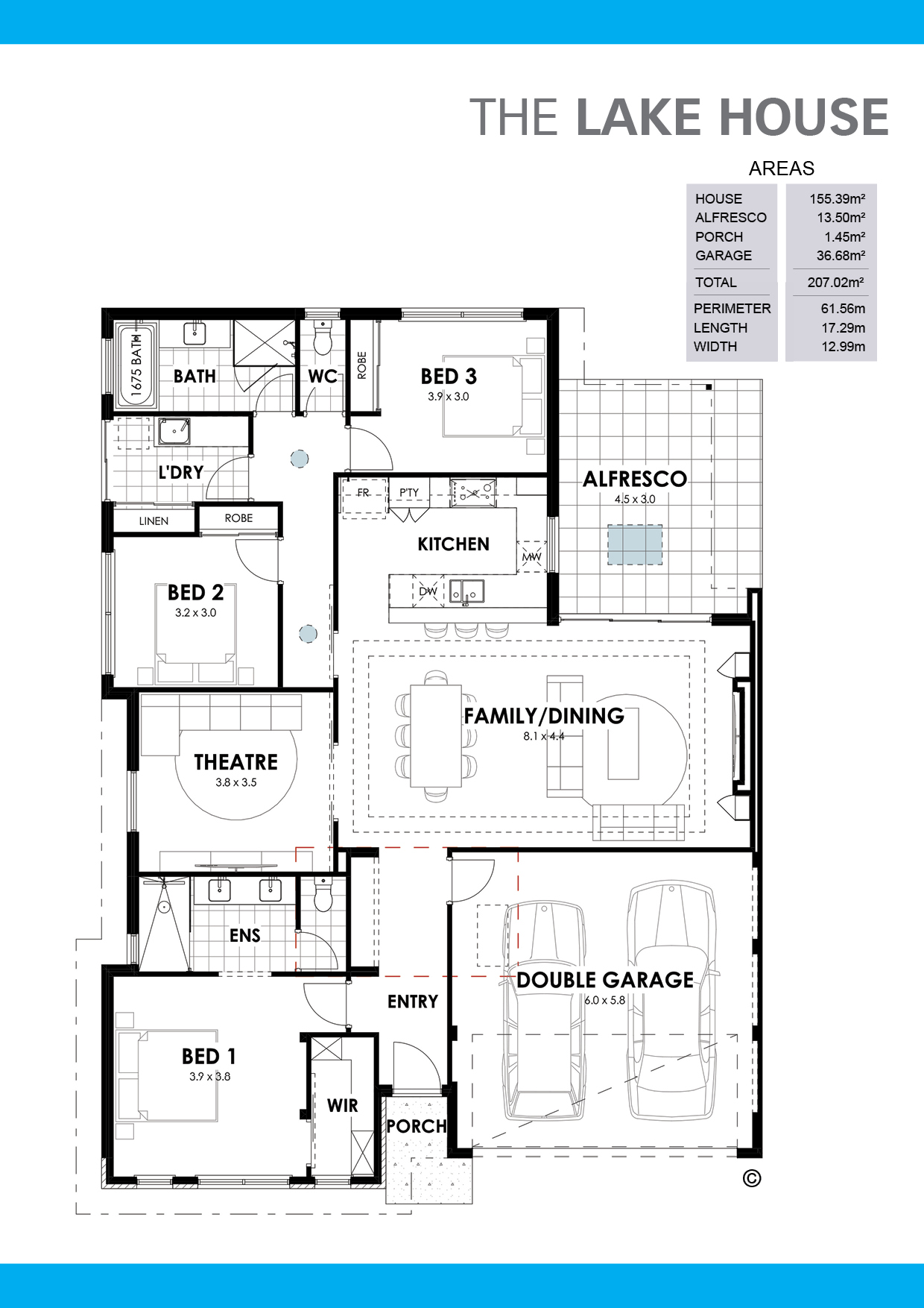 The Lake House Floorplan