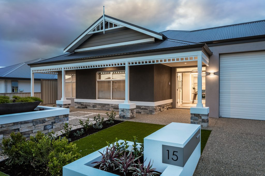 Karlup Display home front elevation view