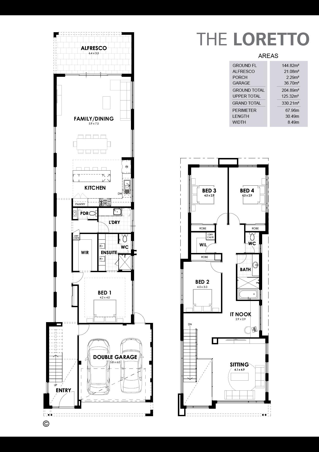 The Loretto Floorplan