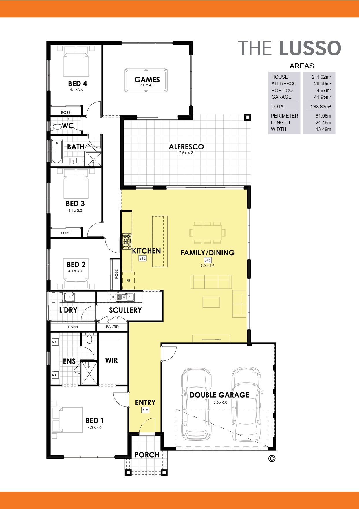 The Lusso Floorplan