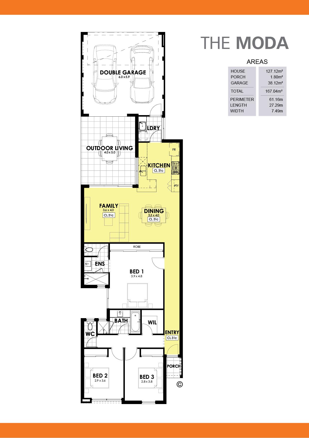 The Moda Floorplan