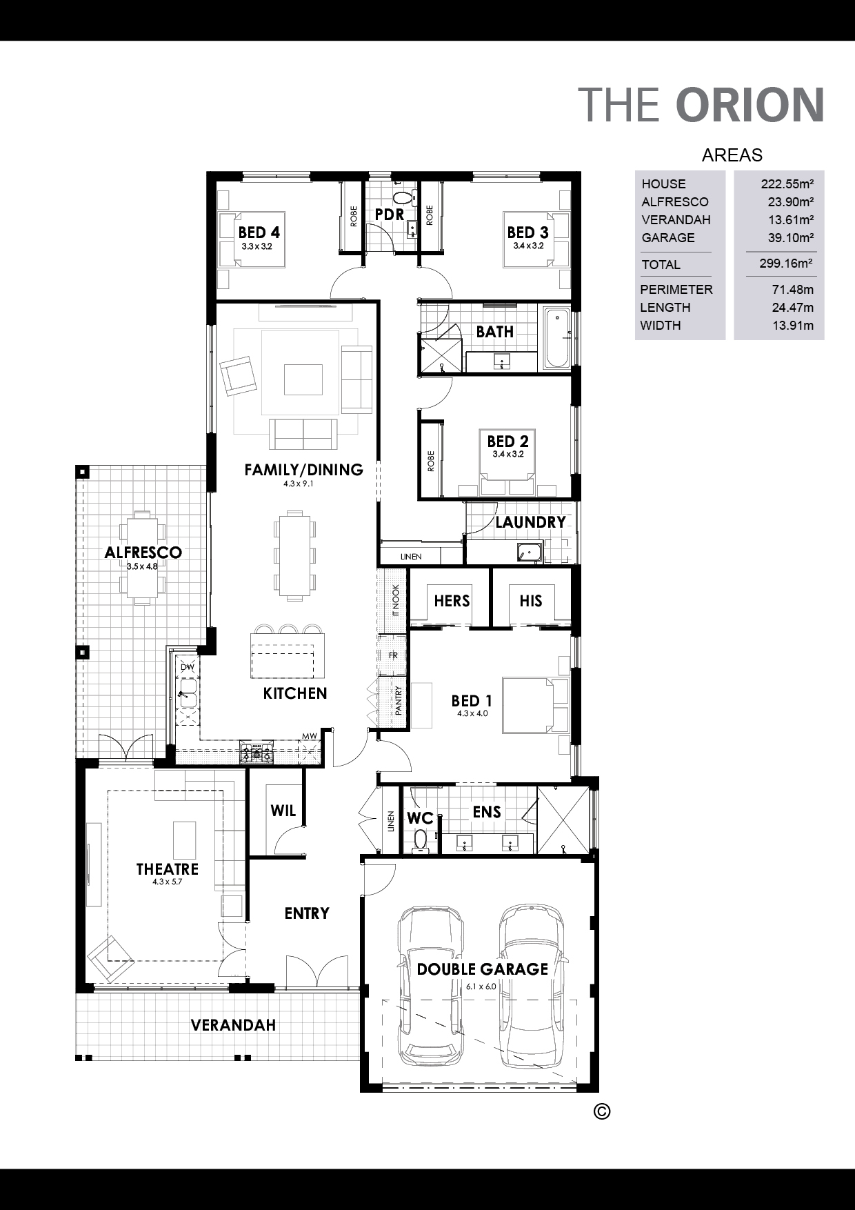 The Orion Floorplan