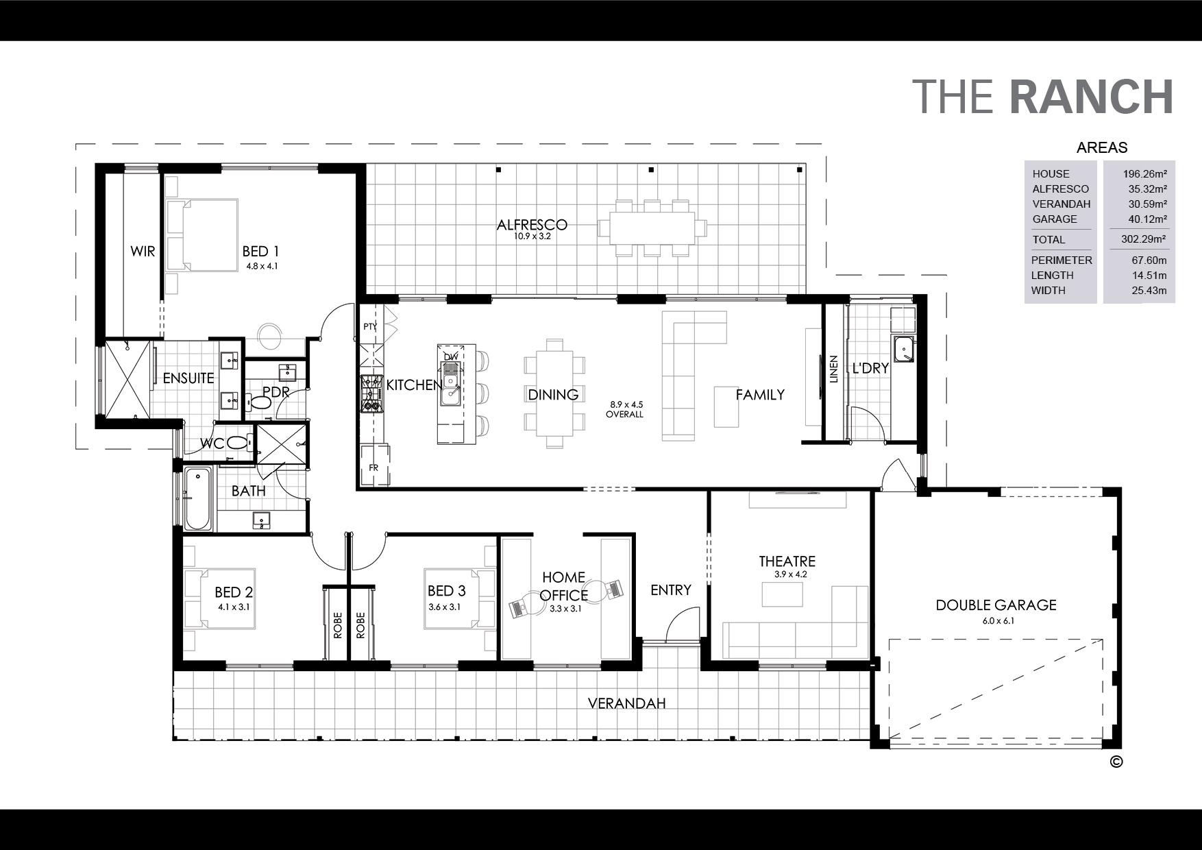 The Ranch Floorplan