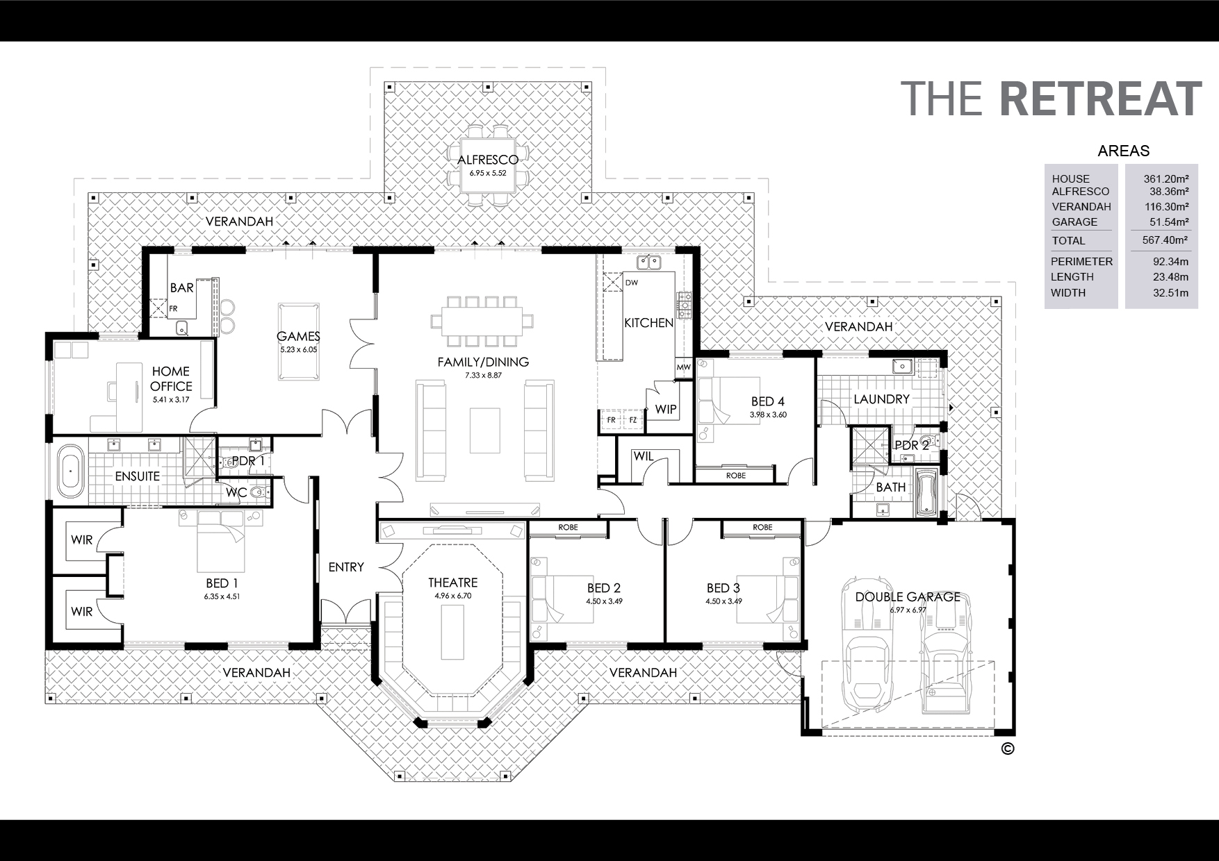 The Retreat Floorplan