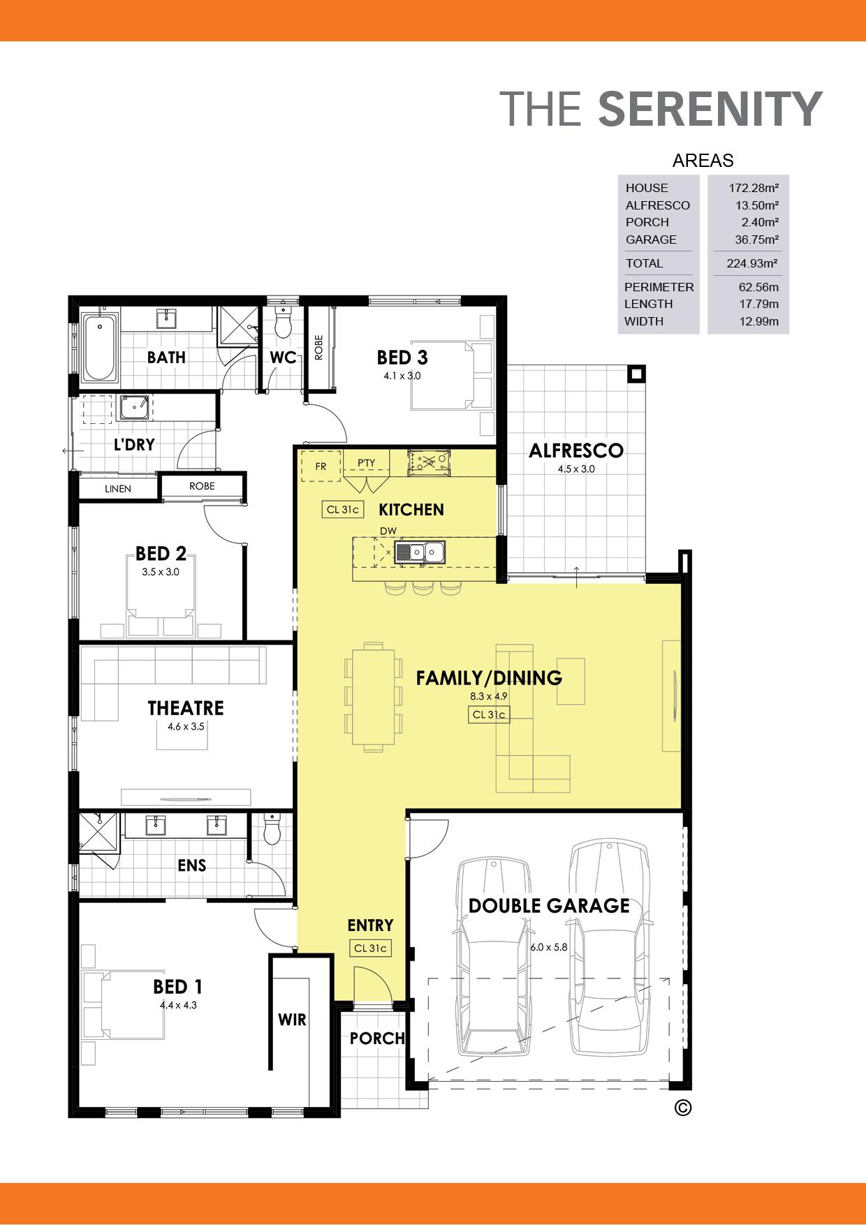 The Serenity Floorplan