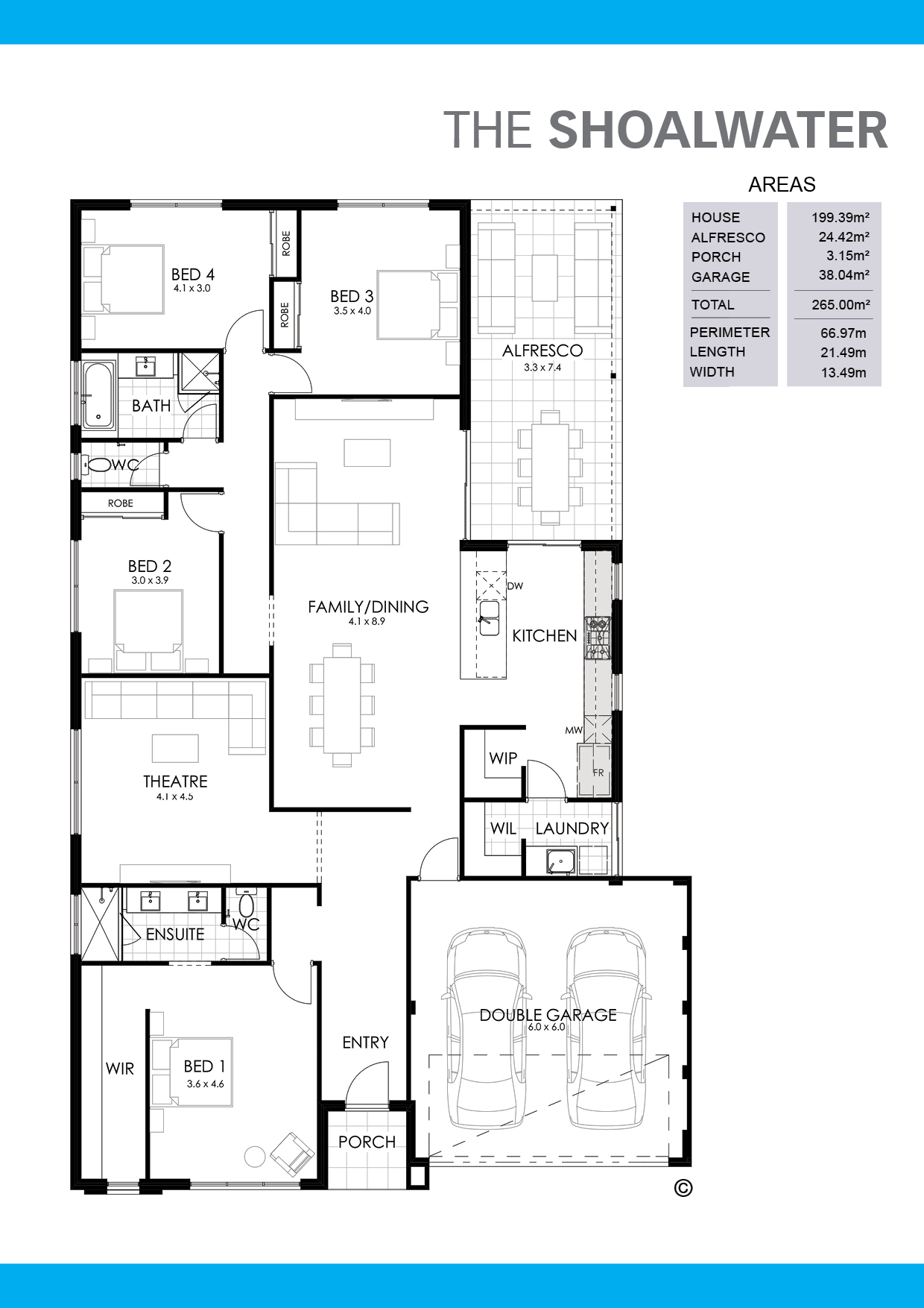 The Shoalwater Floorplan