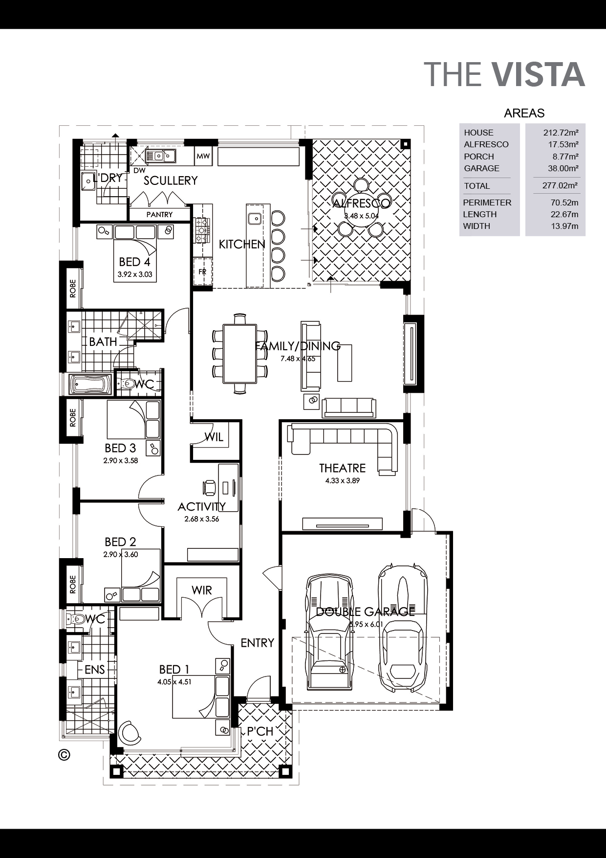 The Vista Floorplan