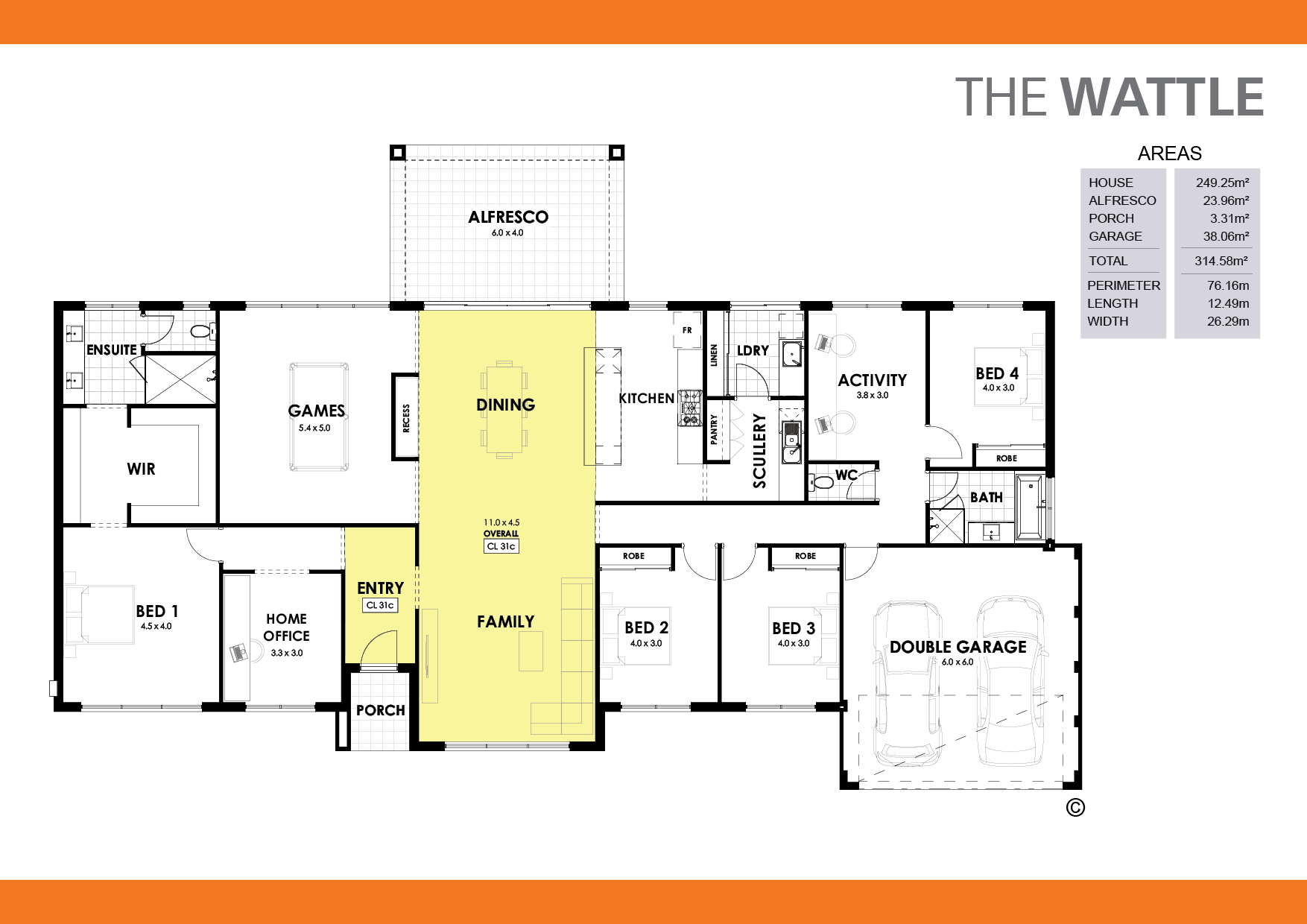 The Wattle Floorplan