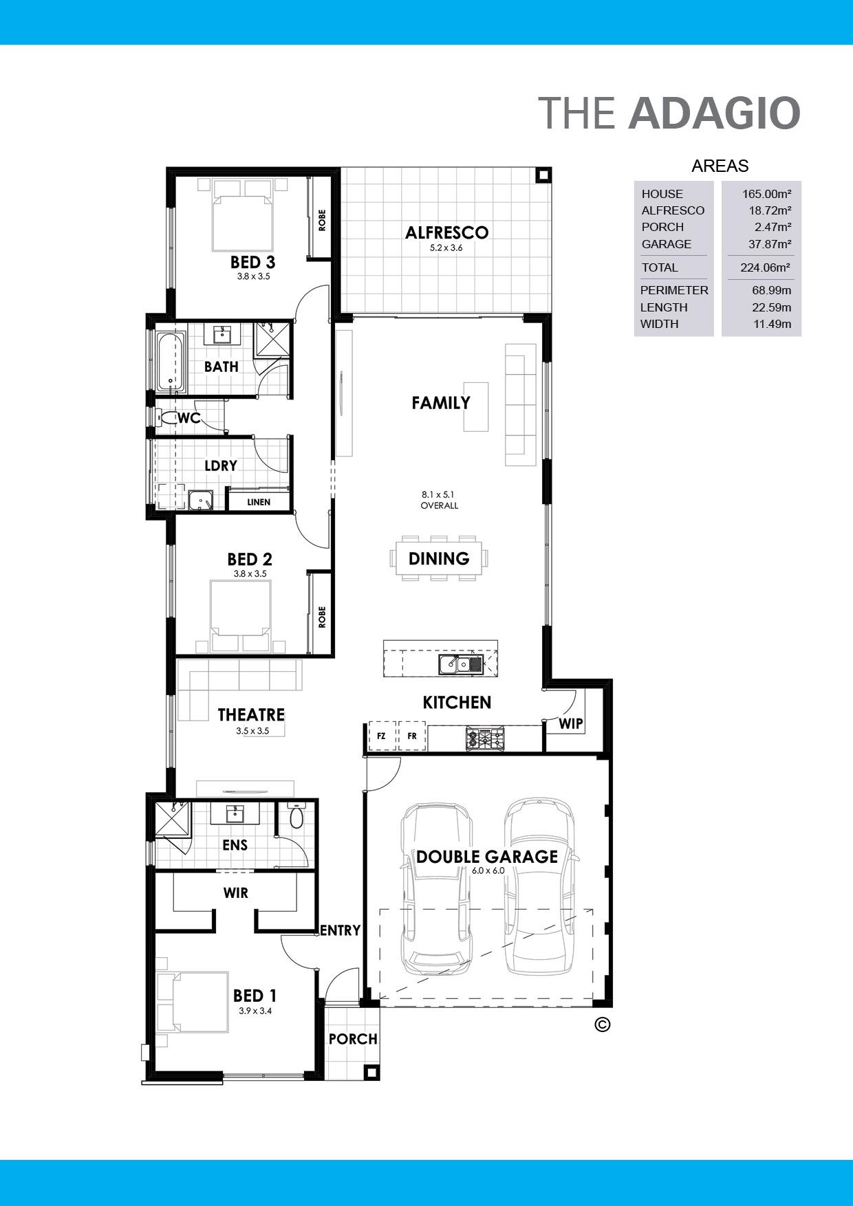 The Adagio Floorplan