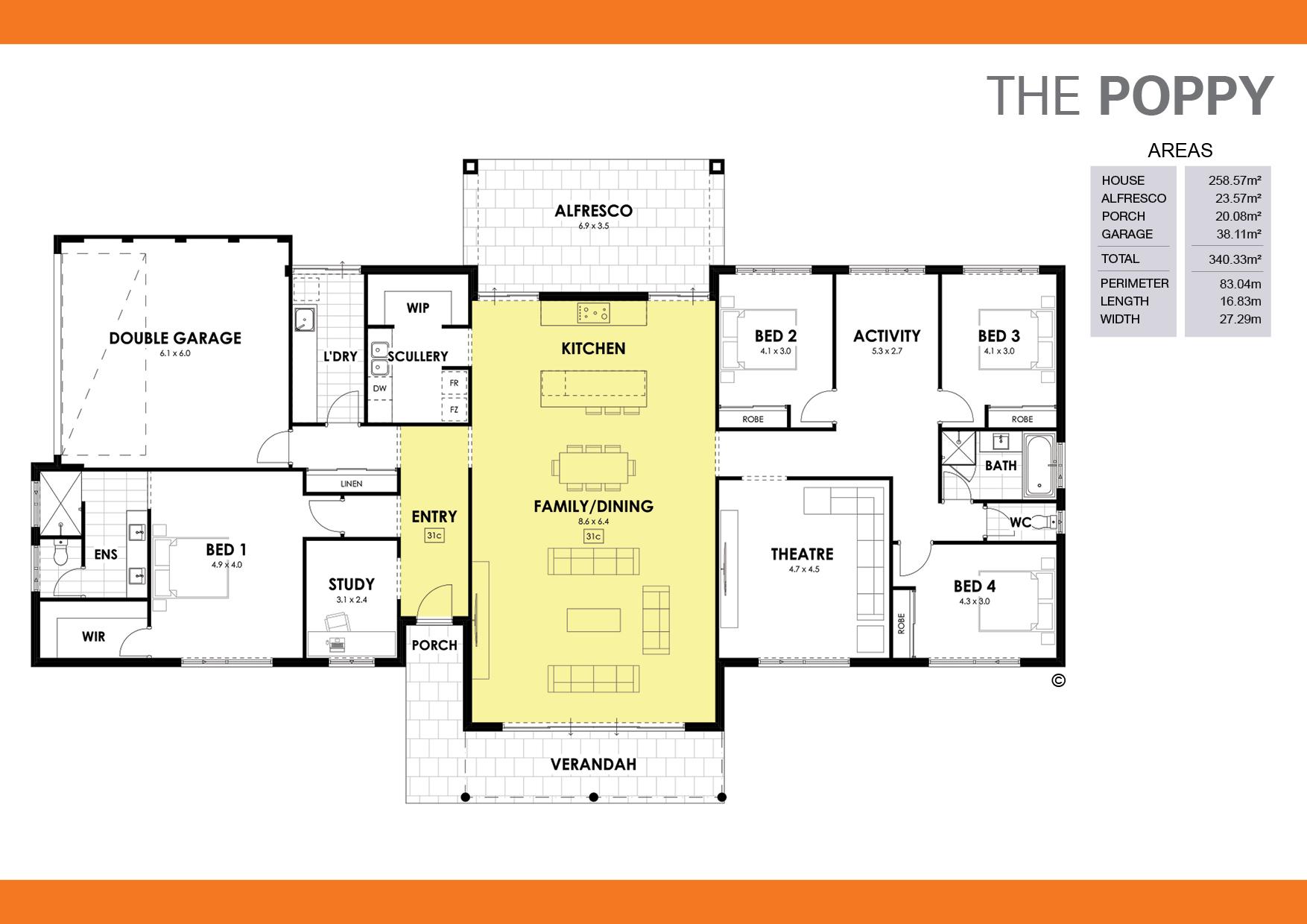 The Poppy Floorplan