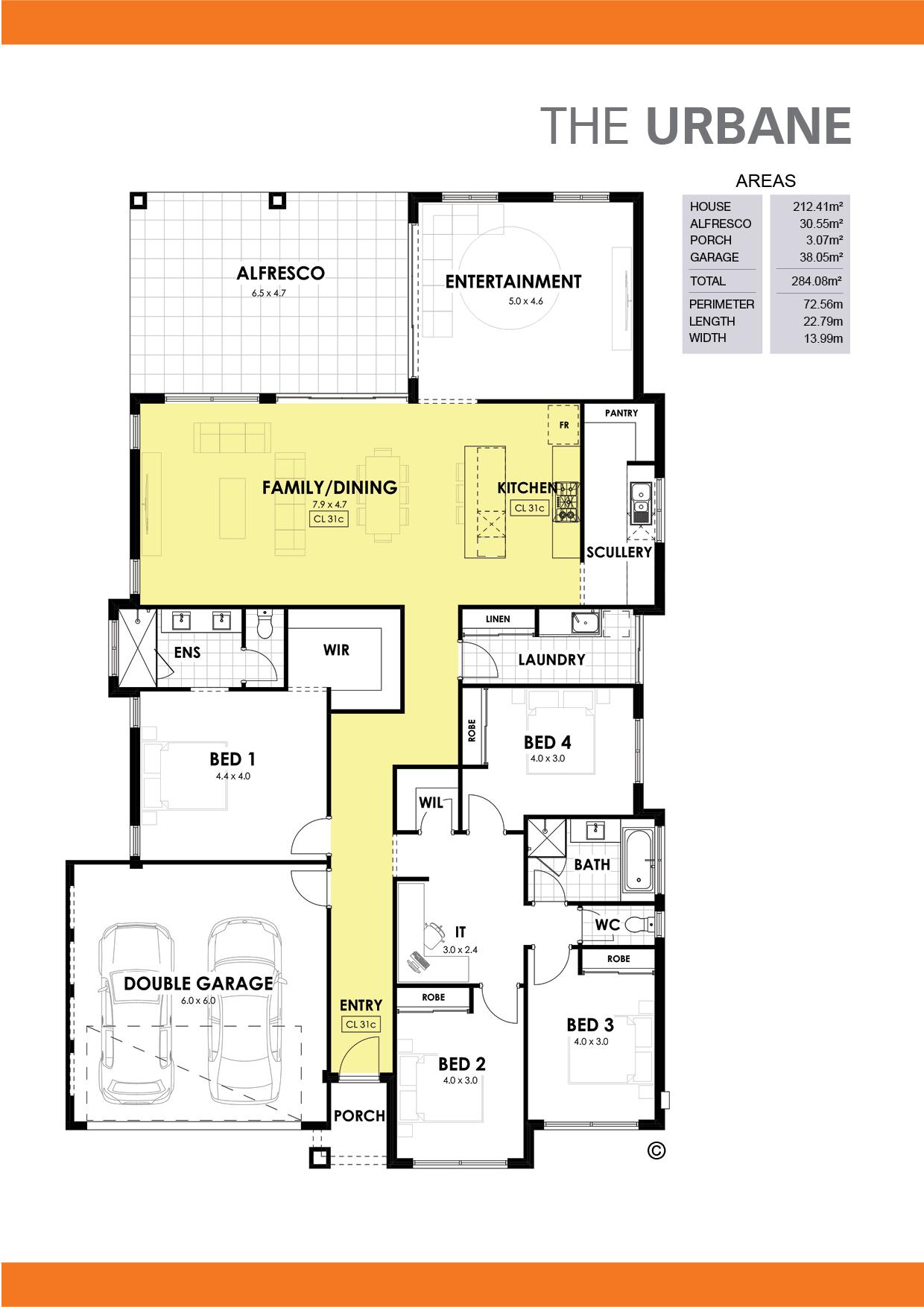 The Urbane Floorplan