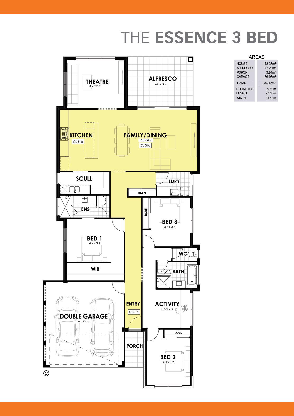 The Essence 3 Floorplan