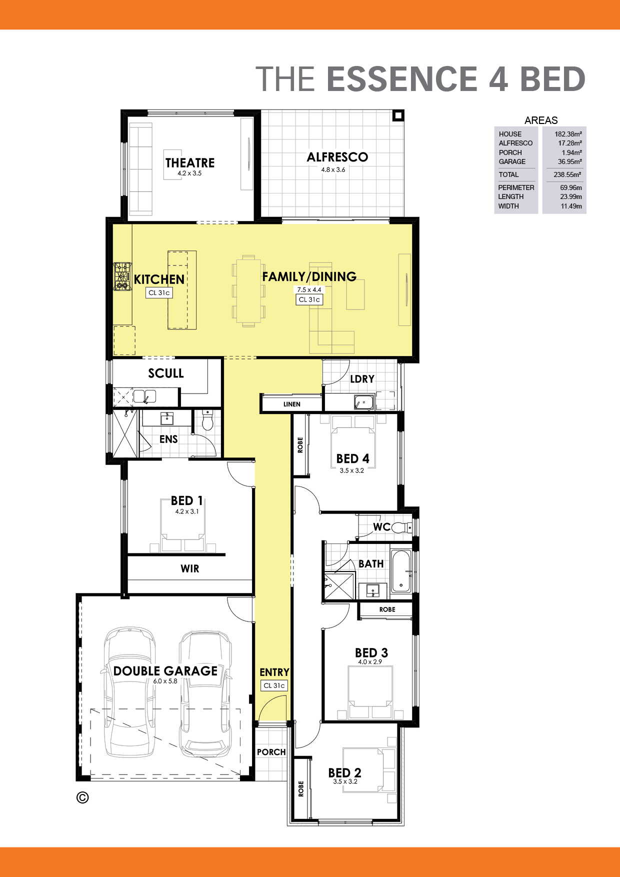 The Essence 4 Floorplan
