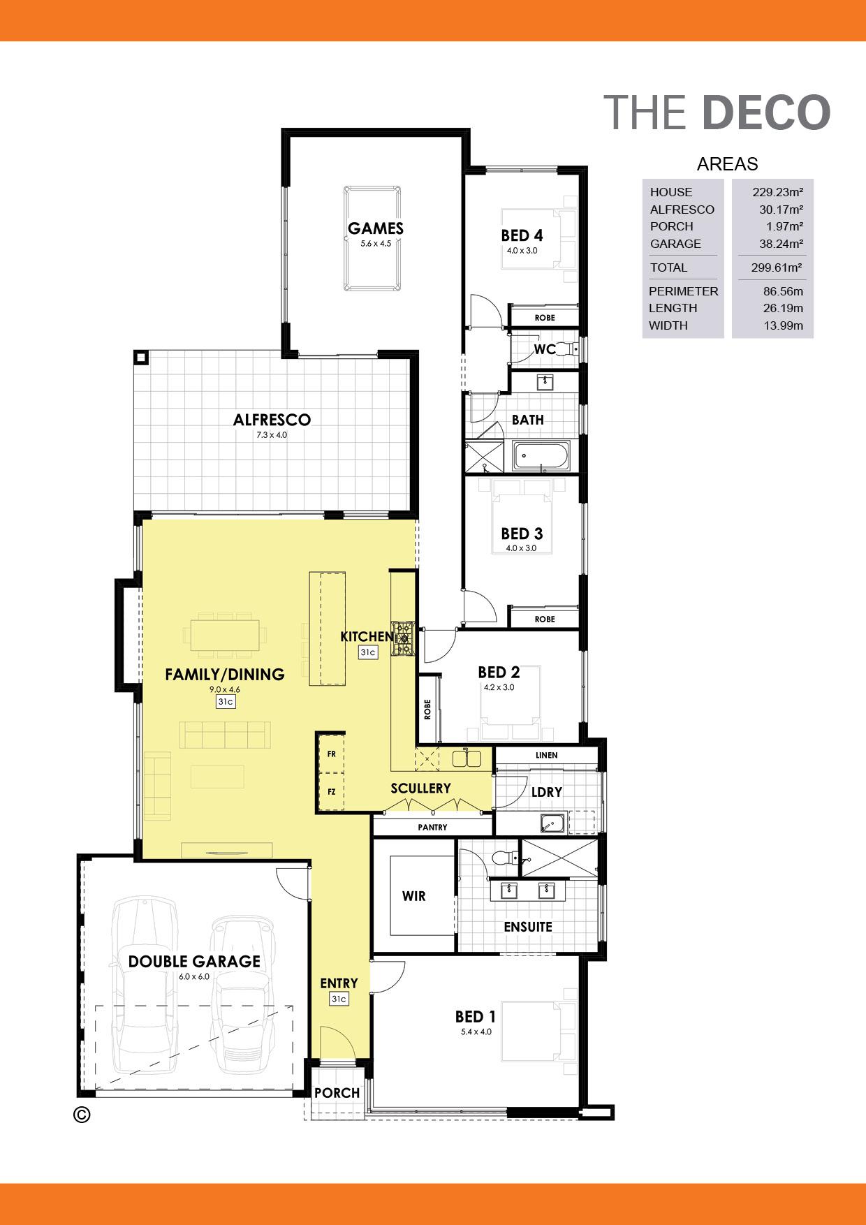 The Deco Floorplan