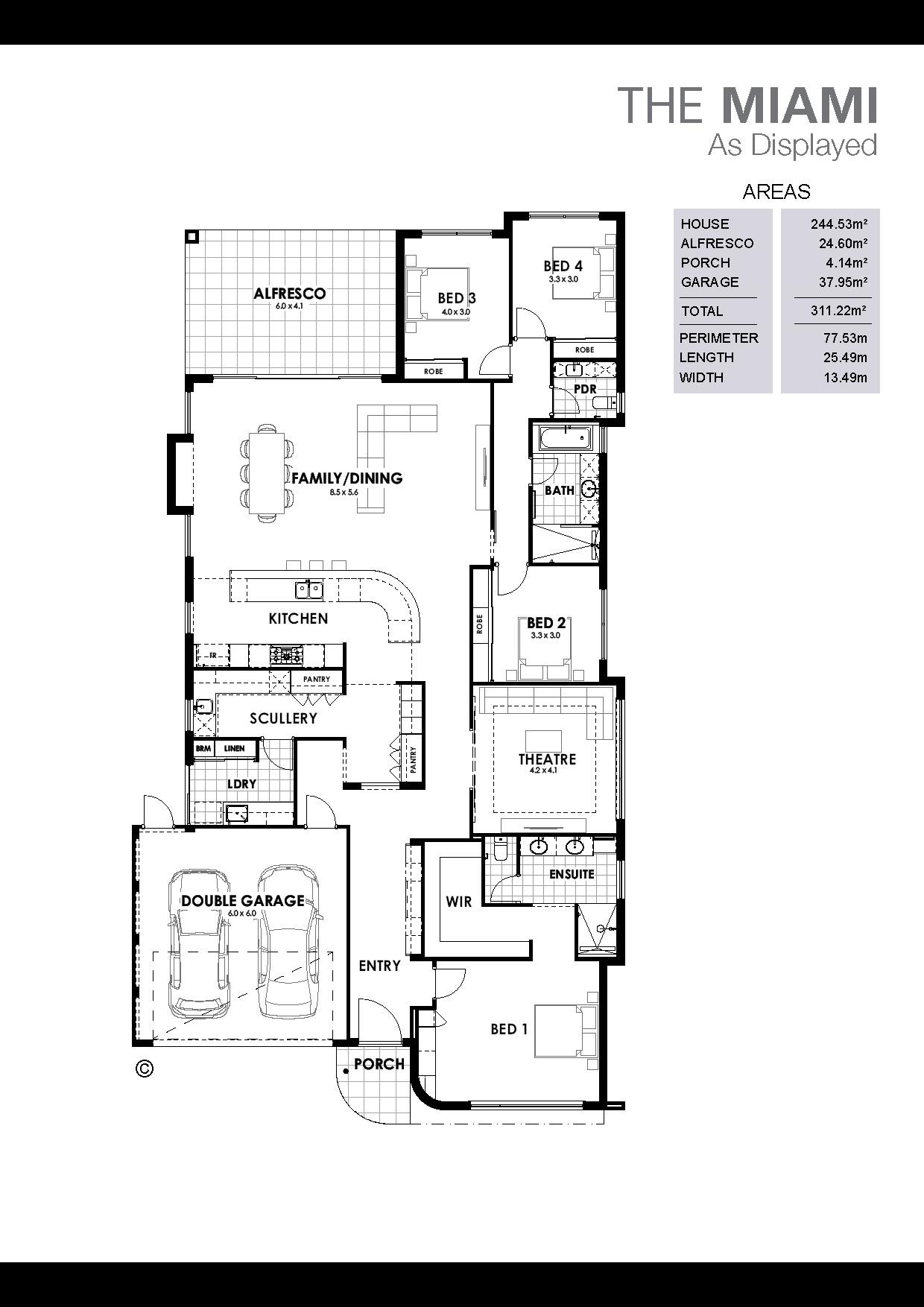 The Miami Floorplan